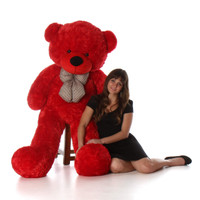 60in Bitsy Cuddles Red Teddy Bear