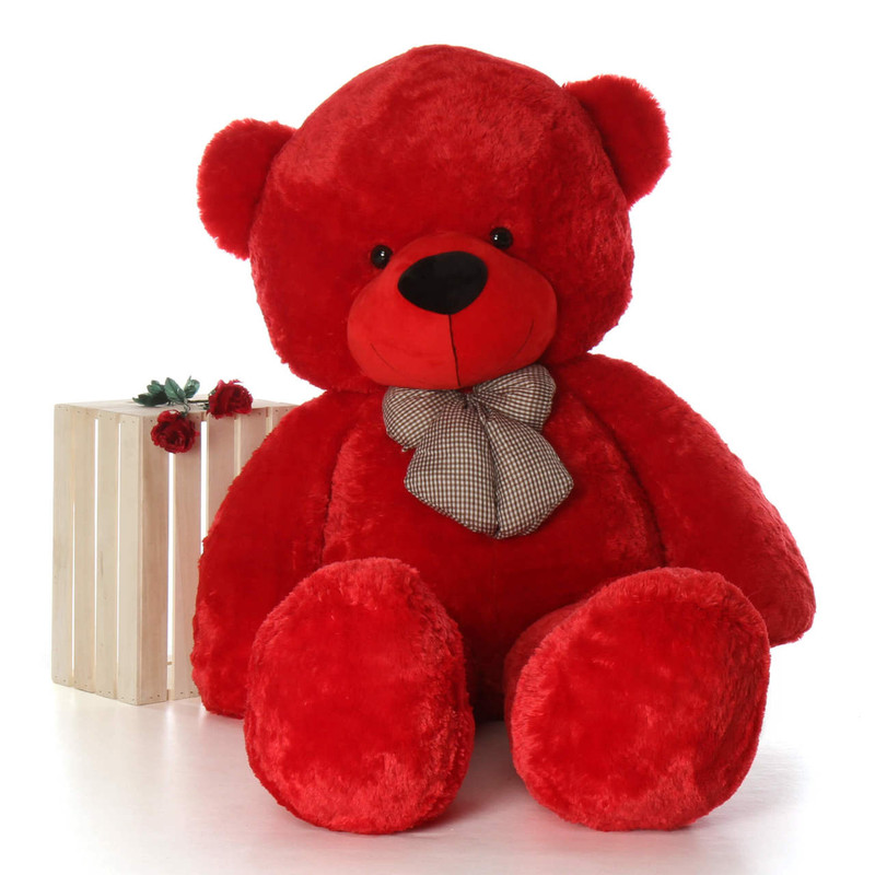 6ft Life Size perfect Red Teddy Bear Plush Gift Bitsy Cuddles