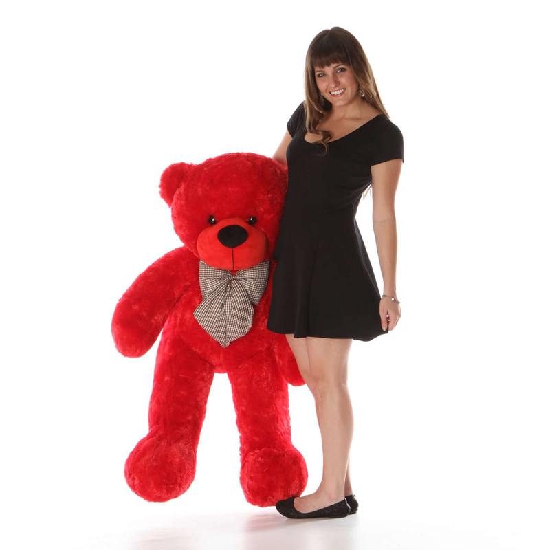 48in Red Life Size Teddy Bear Bitsy Cuddles from Giant Teddy Gift