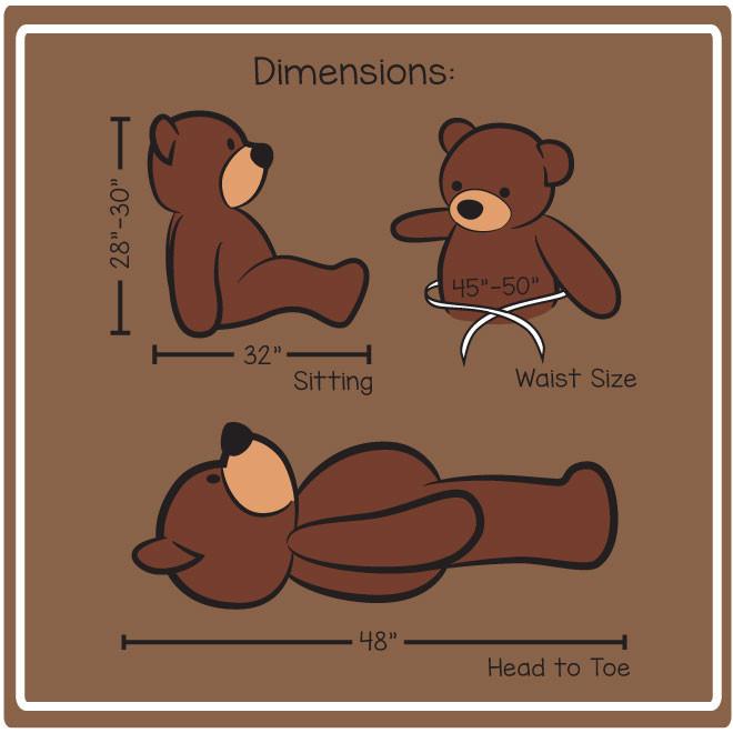 48in cuddles Dimensions