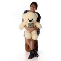 Huge Cream Teddy Bear Cozy Cuddles 38in