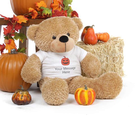 Happy Halloween 24in Giant Amber Teddy Bear