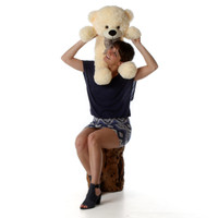 Oversized Cream Teddy Bear Cozy Cuddles 30in