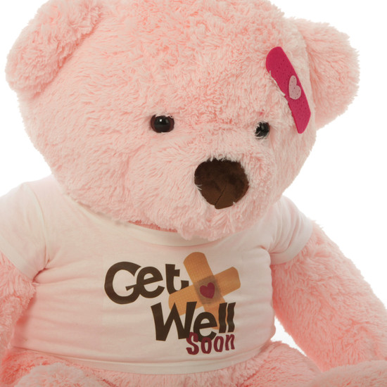 Sweet Get Well Soon Teddy Bears In 3 Colors With Custom