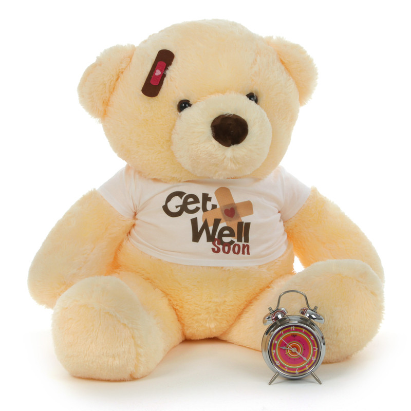 38in Smiley Chubs Get Well Soon Teddy Bear