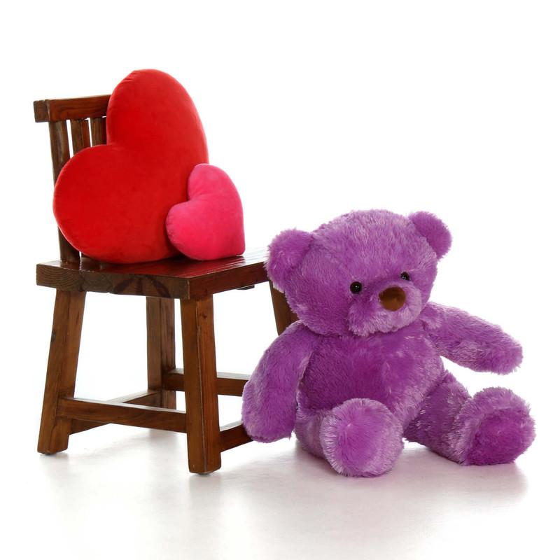 30'' Purple Lila Chubs by Giant Teddy