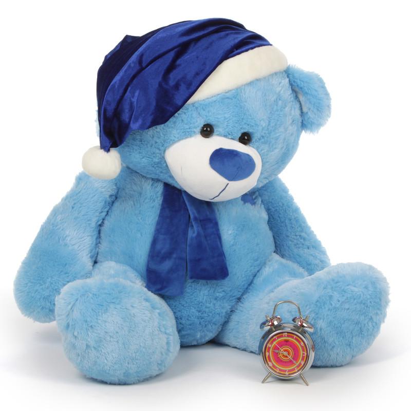 Big Blue Xmas Teddy Bear