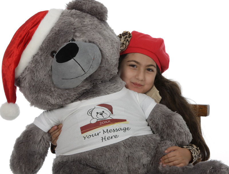 Christmas Gift Silver Teddy Bear