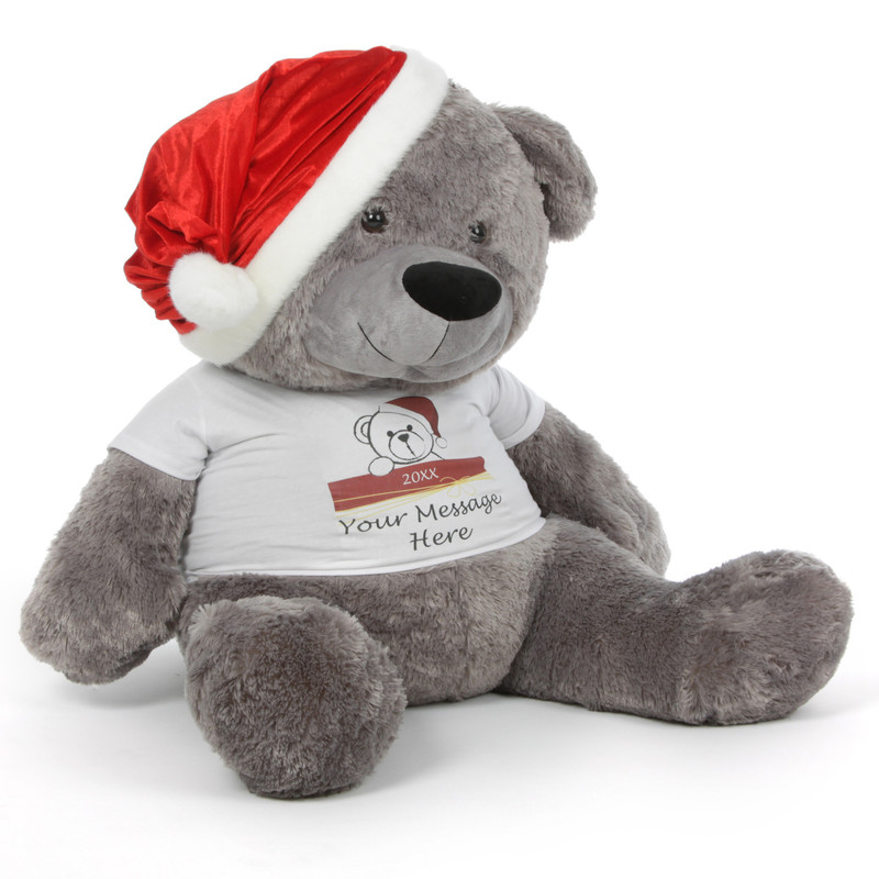 Grey Teddy Bear with Tshirt