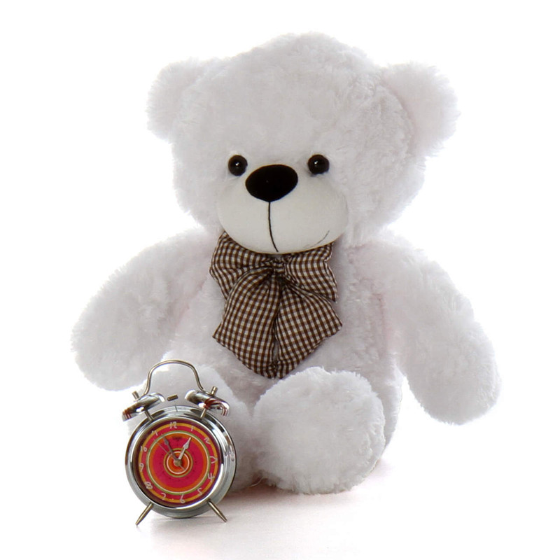 Coco Cuddles 2.5ft tall huggable cuddly white teddy bear will steal your heart with his furry paws