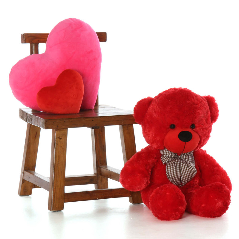 30in Best Gift Red Teddy Bear Bitsy Cuddles So Soft and Cuddly