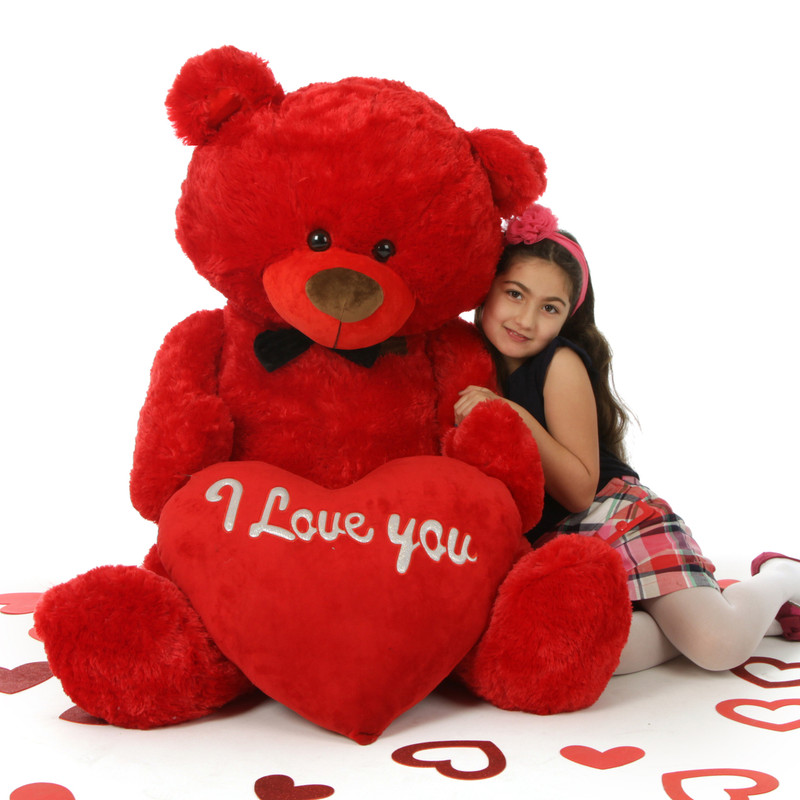 Randy Shags is a huge 52in red teddy bear (Romantically Red)
