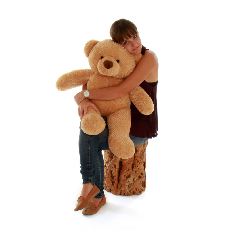 Big Amber Teddy Bear Cutie Chubs 30in