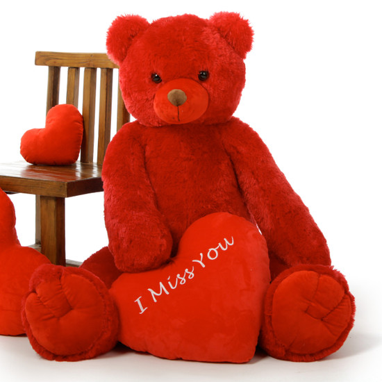 Scarlet Tubs 42in Romantic Valentines Day I Miss You Teddy Bear