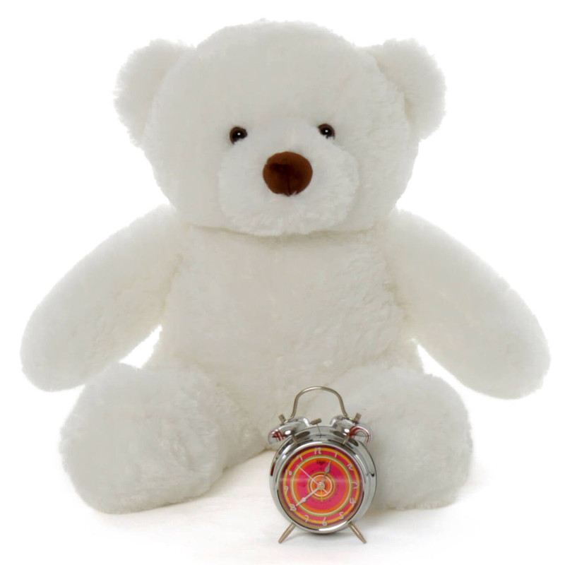 30in White Teddy Sprinkle Chubs by Giant Teddy (Clock NOT included)