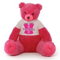 3½ ft Cherry Tubs Cuddly Hot Pink Prom 2014 Teddy Bear