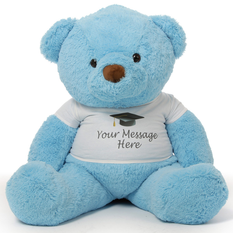 48in Personalized Chubs Graduation Bear, Blue
