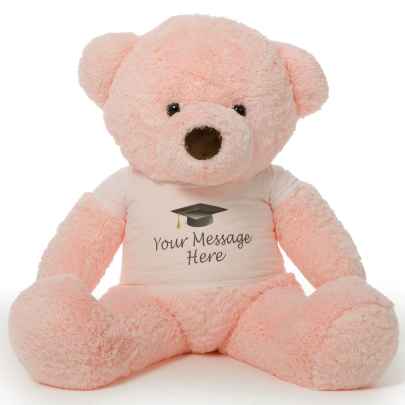 48in Personalized Chubs Graduation Bear, Pink