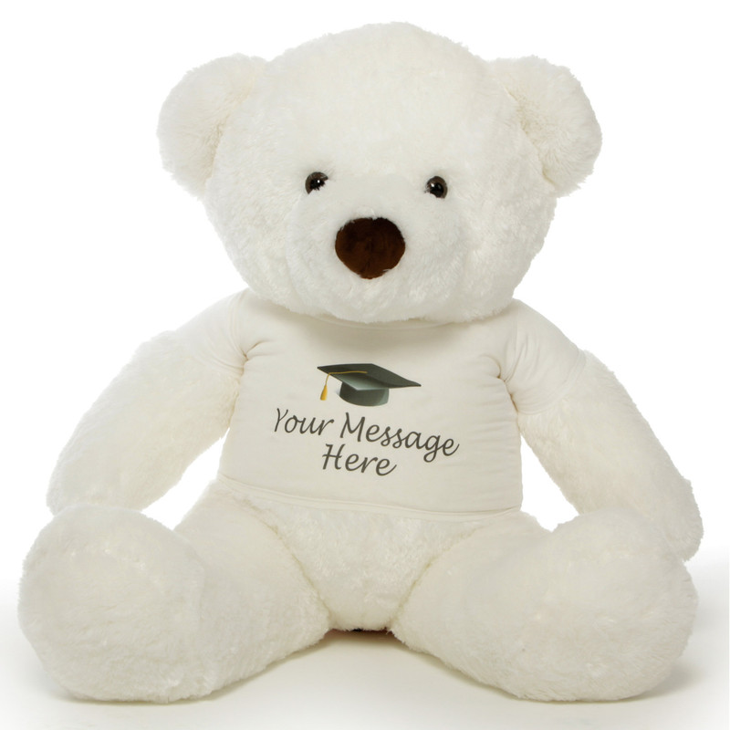 48in Personalized Chubs Graduation Bear, White