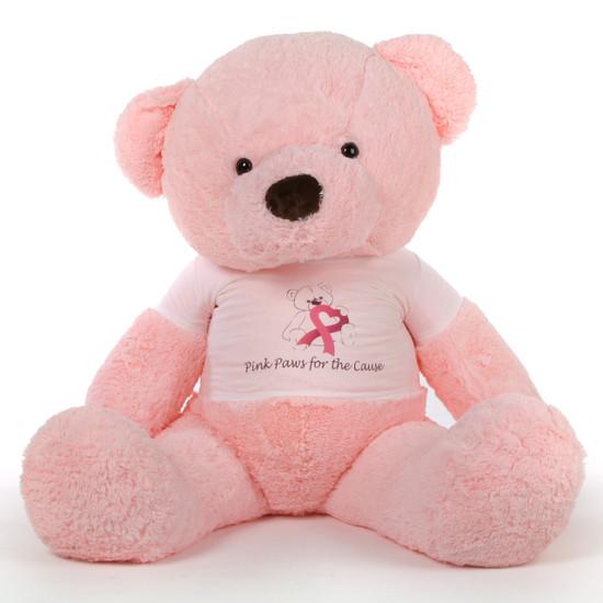 5ft Pink Giant Teddy Bear Gigi Chubs Breast Cancer Awareness