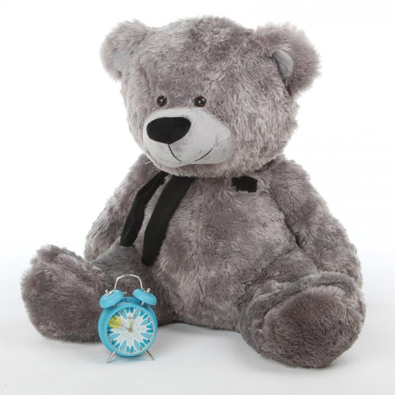 Diamond Shags silver teddy bear 35in