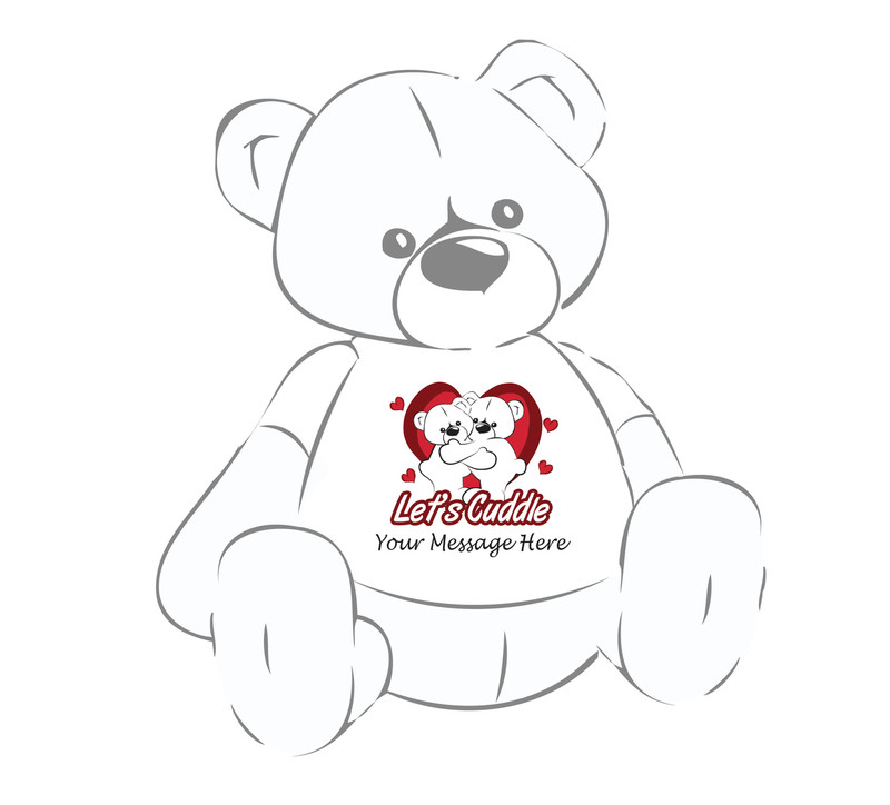Personalized Giant Teddy Valentine's Day T-shirt