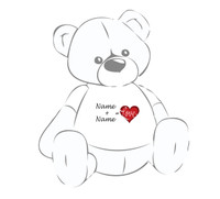 Name + Name = Love Personalized Teddy Bear Tshirt