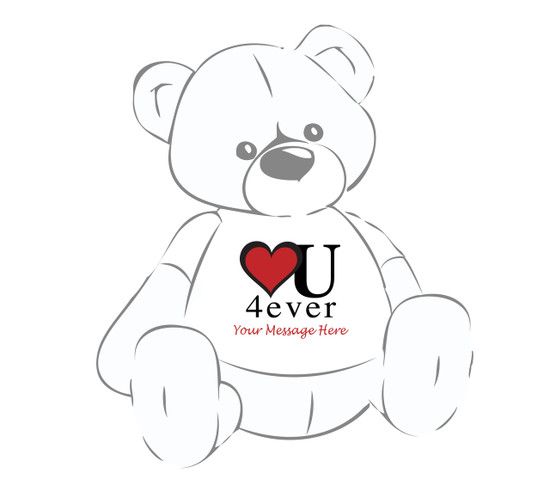Heart You Forever Giant Teddy Persoanlized Tshirt