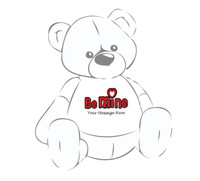 Personalized 'Be Mine' Valentine's Day Giant Teddy Bear Shirt