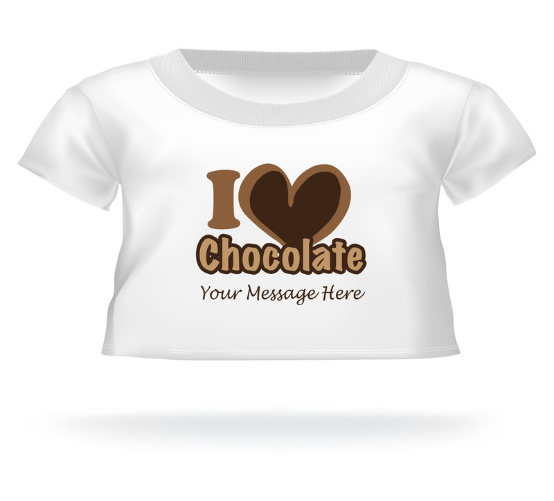 I Love Chocolate Giant Teddy Personalized Bear shirt