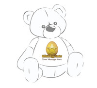 "Personalized ""Official Egg Hunter"" Giant Teddy bear shirt for Easter"