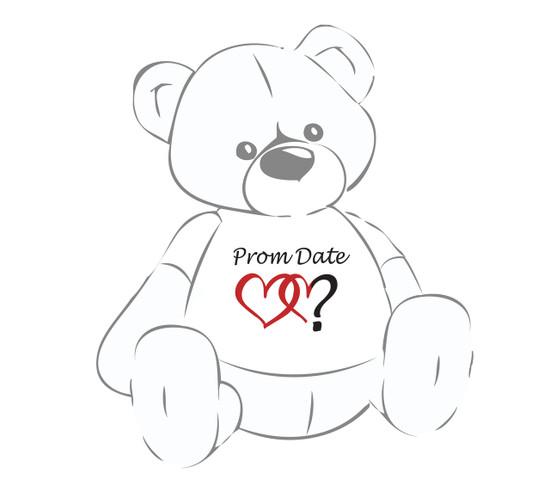 Prom Date? Giant Teddy Bear shirt