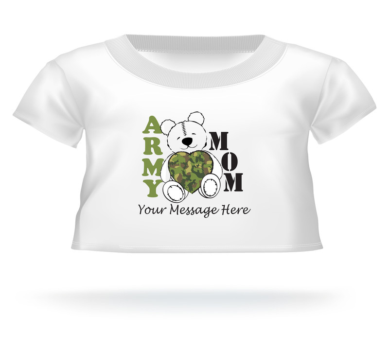 Personalized Camouflage Heart Army Mom T-shirt