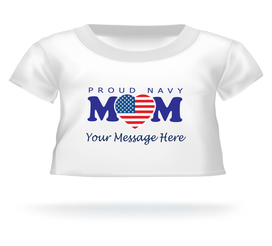Proud Navy Mom heart flag Personalized Giant Teddy Bear shirt