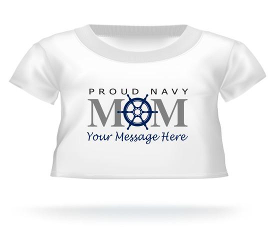 Proud Navy Mom Ship's Wheel Personalized Giant Teddy Bear shirt