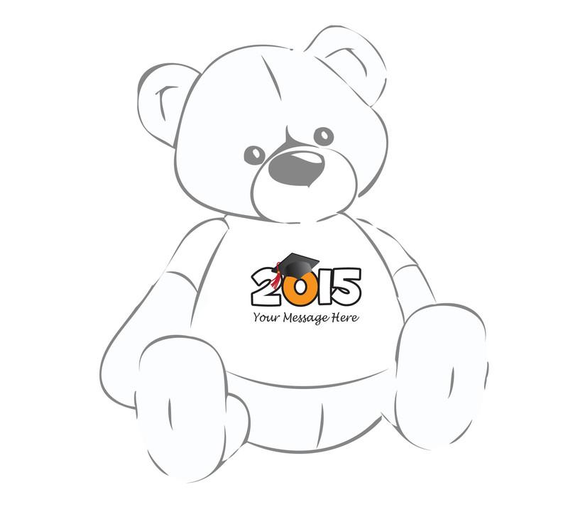 2015 with Cap & red tassel Teddy Bear T-shirt