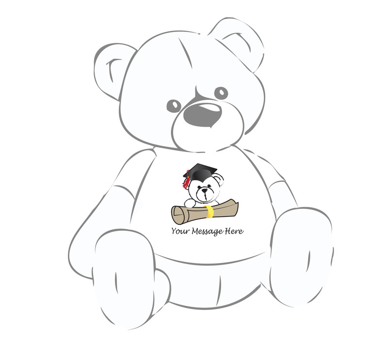 Giant Teddy Bear w/Cap and Diploma