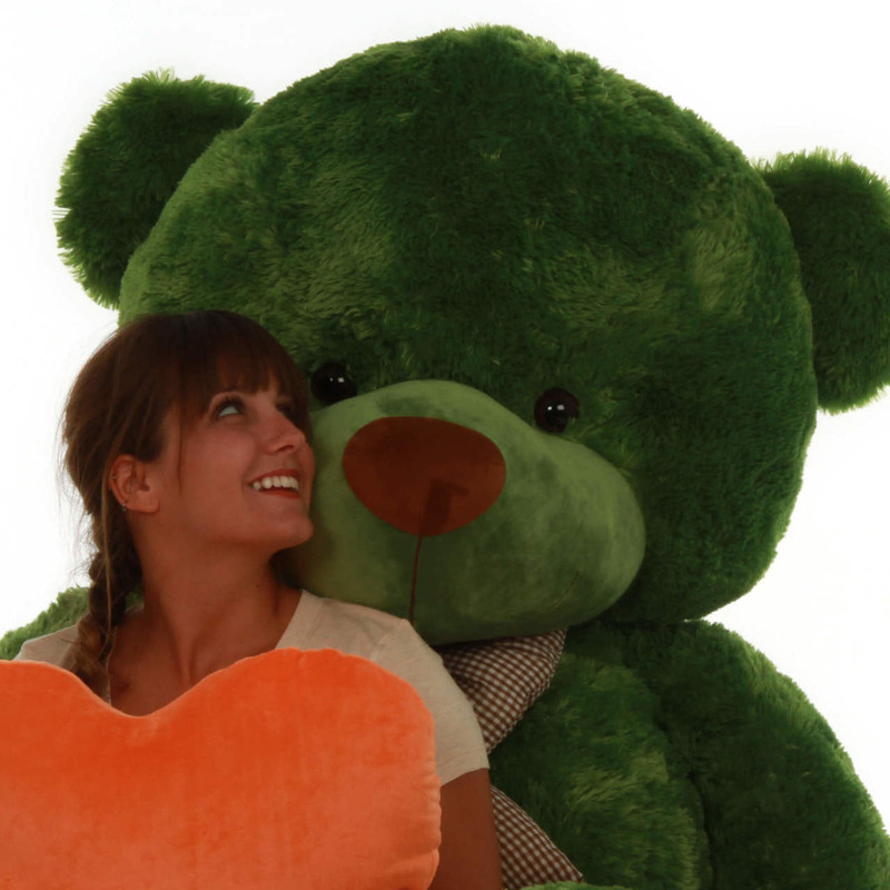 72in Life Size Green teddy bear cuddles gigantic standing bear