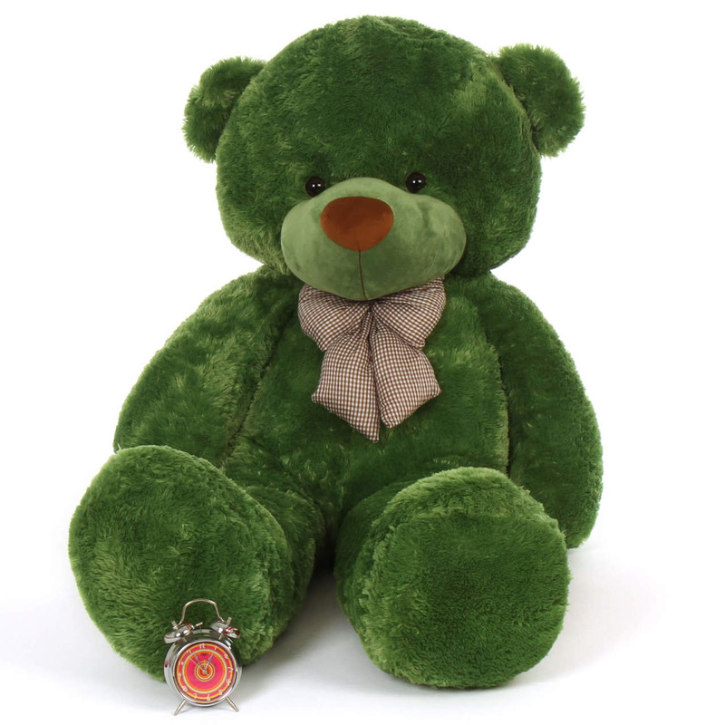 72in Green  teddy Life Size Lucky softest biggest cuddles bear