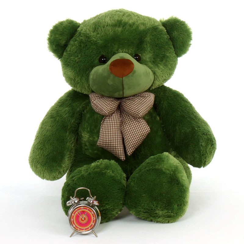 4ft cuddles green teddy bear Big smile cuddly bear Christmas and St. Patrick's Day