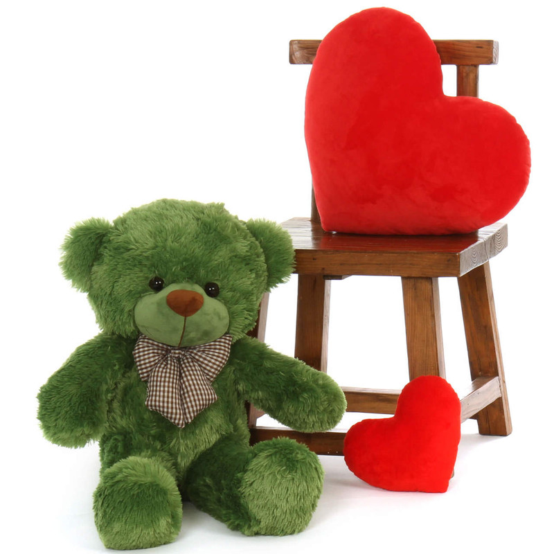 30 inches Best Green lucky cuddles snuggly soft lovely cute teddy bear