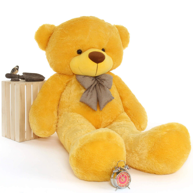 Yellow Teddy Bear Daisy family Cuddles Giant Teddy Big and bright Smiles