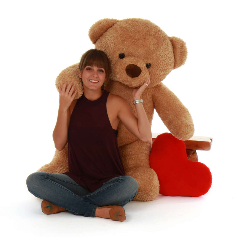 4 ft Huggable Cutie Chubs Life Size Jumbo Amber Giant Teddy Bear (2)
