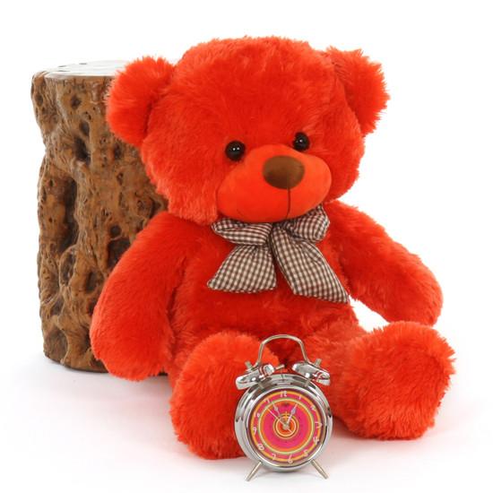Oversized Teddy Bear 30in Lovey Cuddles Beautiful Orange