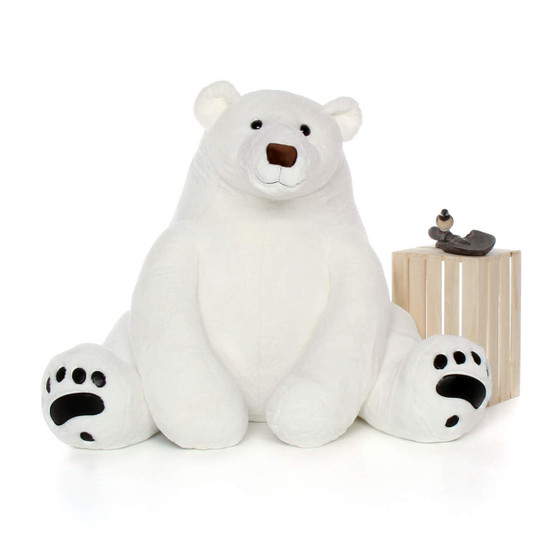 Life Size White Polar Bear 52in Chilly Frost Giant Teddy