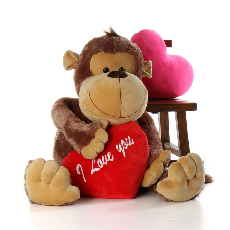 5ft Life Size Stuffed Monkey Big Daddy With I Love You