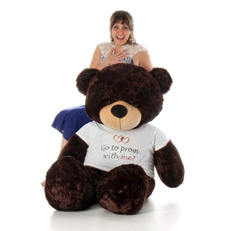 Life Size 60in girlfriend Prom  Teddy Bear Brownie Cuddles Chocolate Fur