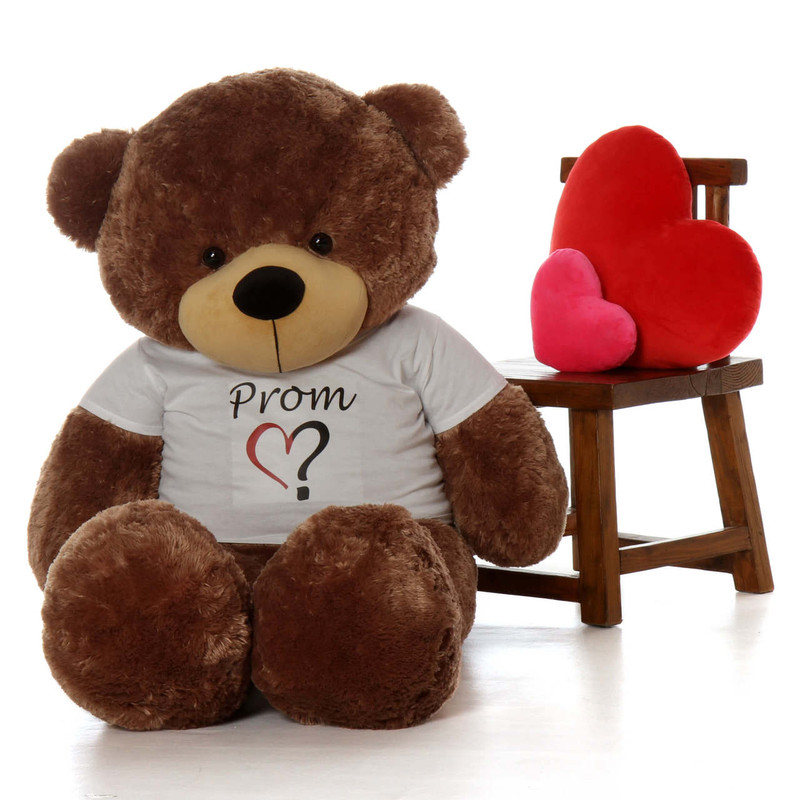 Life Size 5ft Ask a Date To Prom Teddy Bear Sunny Cuddles Mocha Fur
