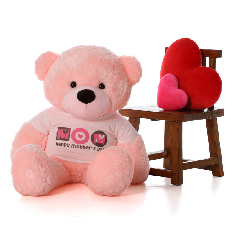 4ft Happy Mother's Day teddy bear pink Lady Cuddles