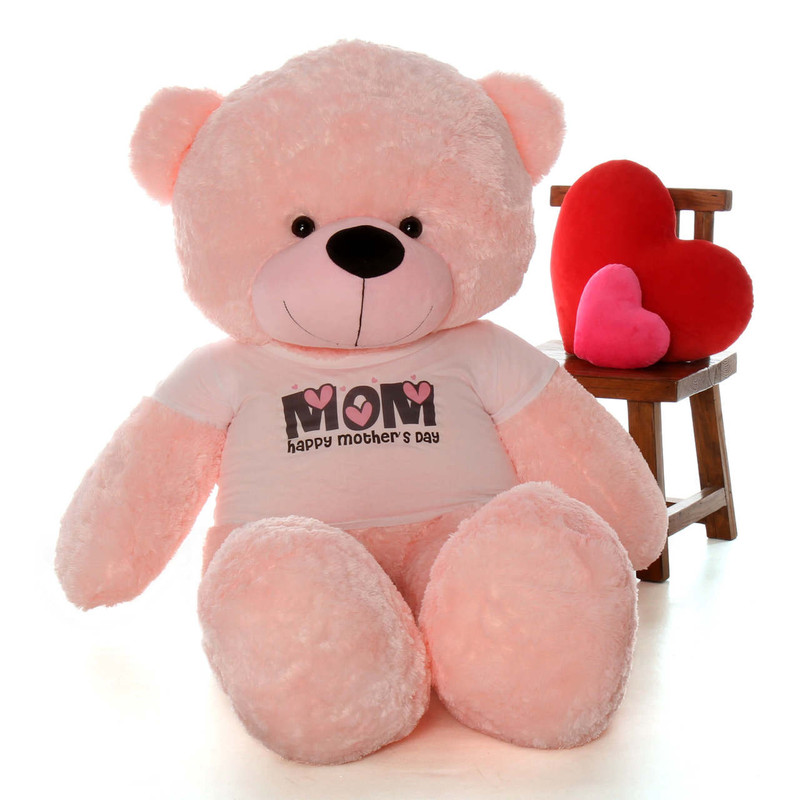 6ft Pink Lady Cuddles Happy Mother's Day shirt teddy bear